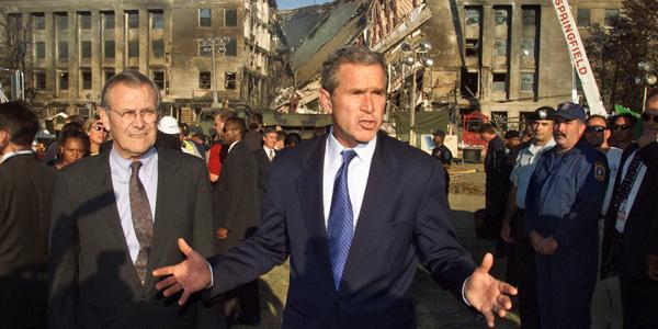Bush in front of Pentagon - Pablo Martinez Monsivais AP - banner.jpg