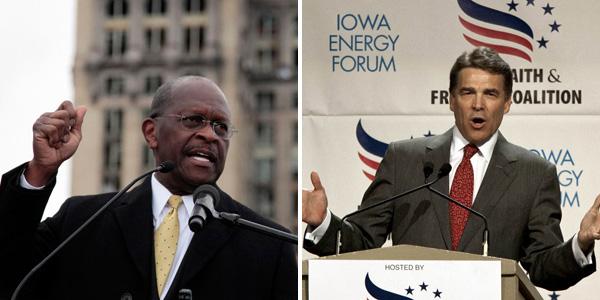 Cain Perry - AP Photo-Nati Harnik  Rebecca Cook Reuters - banner.jpg