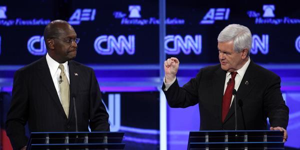 Gingrich Cain CNN DC debate - AP Photo:Evan Vucci - banner.jpg