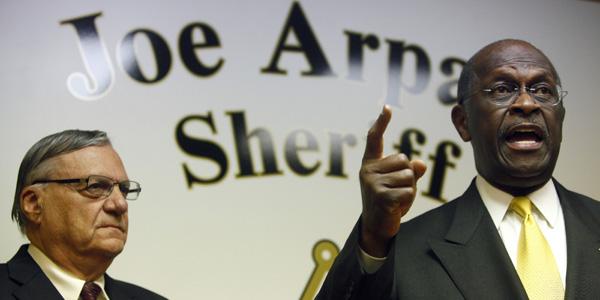 Herman Cain Joe Arpaio - Eric Thayer Reuters - banner.jpg
