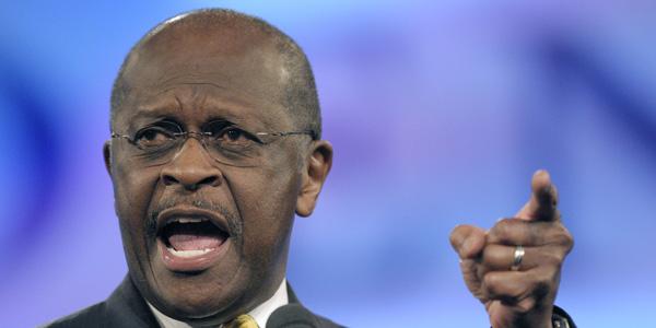 Herman Cain pointing - Phelan Ebenehack : Reuters - banner.jpg