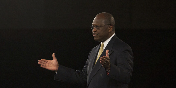 Herman Cain speaking - Chris Keane Reuters - banner.jpg
