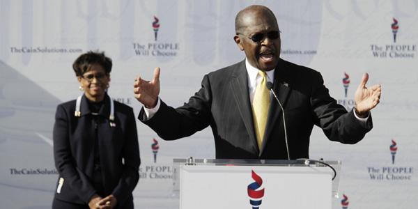 Herman Cain suspends campaign - John Adkisson - Reuters - banner1.jpg