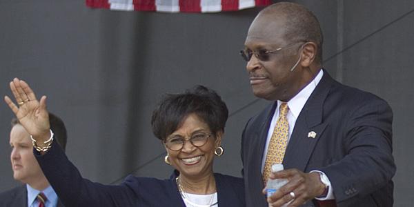 Herman and Gloria Cain - AP Photo:David Goldman - banner.jpg