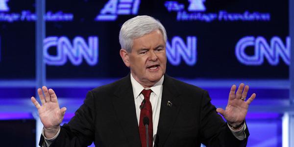 Newt Gingrich at GOP debate - Evan Vucci AP - banner.jpg