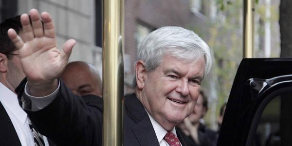 Newt Gingrich by a pole - AP Photo:Mark Lennihan - banner.jpg