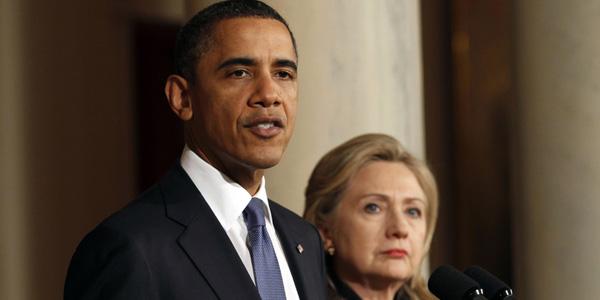 Obama and Clinton at presser on Libya - Kevin Lamarque Reuters - banner.jpg