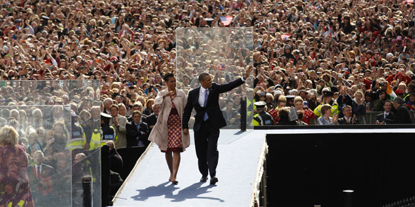 Obama and Michelle in Ireland - Kevin Lamarque : Reuters - banner.jpg