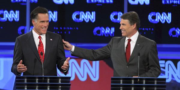 Perry Romney CNN debate - Scott Audette Reuters - banner.jpg
