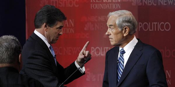 Rick Perry Ron Paul GOP debate CA - Mario Anzuoni Reuters - banner.jpg