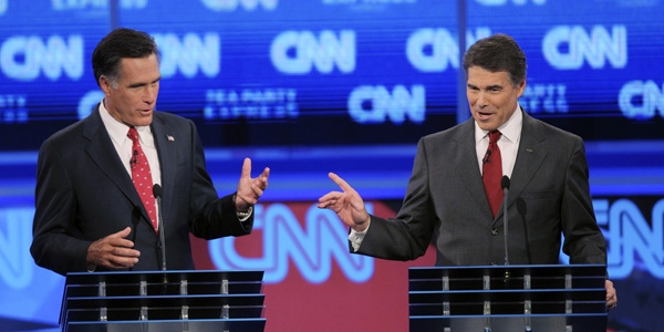 Romney Perry FL debate - Scott Audette : Reuters - banner.jpg