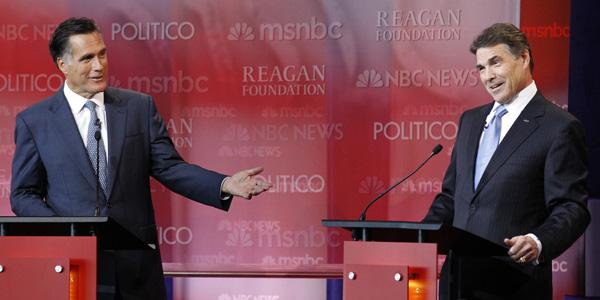 Romney Perry GOP debate CA - Mario Anzuoni : Reuters - banner.jpg
