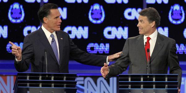 Romney Perry debate Las Vegas - Chris Carlson AP - banner.jpg