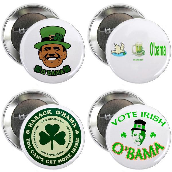 Obama St Patricks Day pins.jpg