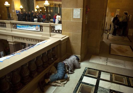 Sleeping in the Capitol - Reuters Darren Hauck.jpg