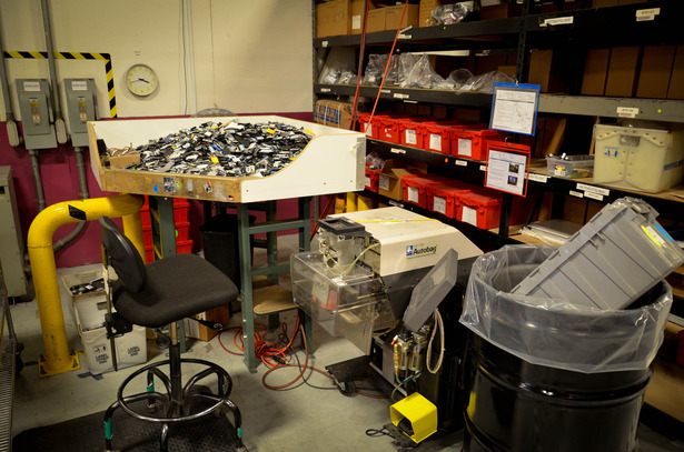 Battery processing in the Recellular warehouse