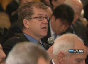 Thumbnail image for Steve Clemons asking question of JCS Chairman General Martin Dempsey.jpg