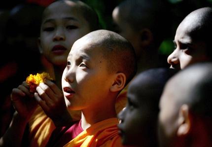 Buddhistdibyangshusarkarafpgetty