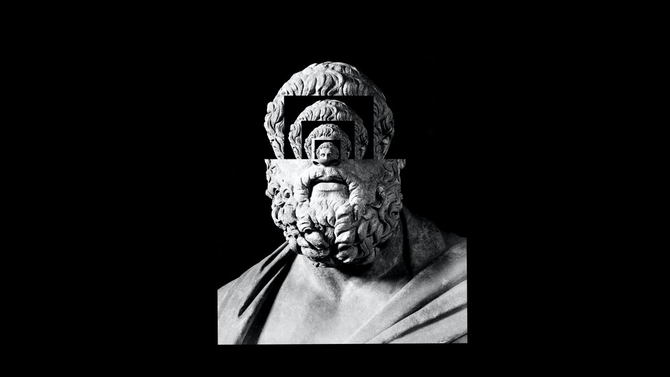 An illustration of an ancient bust
