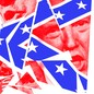 A shattered Confederate flag made up of images of the January 6th insurrection