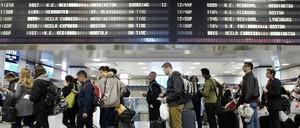 Travelers at Penn Station