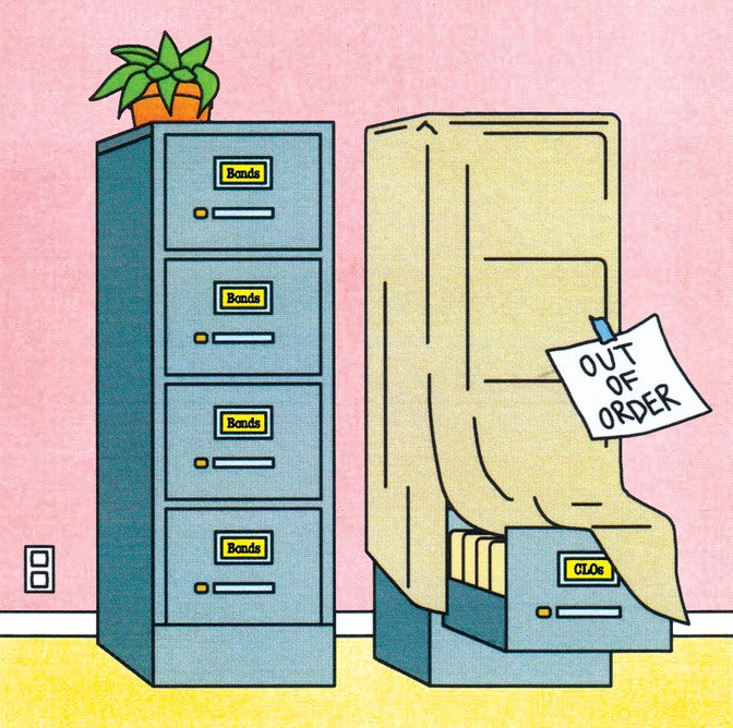 illustration of file cabinet with label