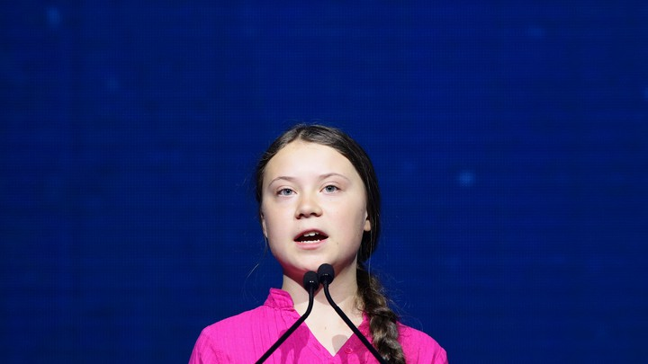 The Swedish climate activist Greta Thunberg spoke at the R20 Austrian World Summit, in Vienna, on May 28, 2019.