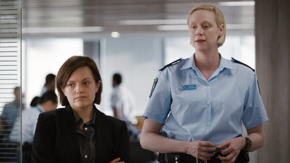 Robin (Elisabeth Moss) and Miranda (Gwendoline Christie) investigate a murder in 'Top of the Lake: China Girl'