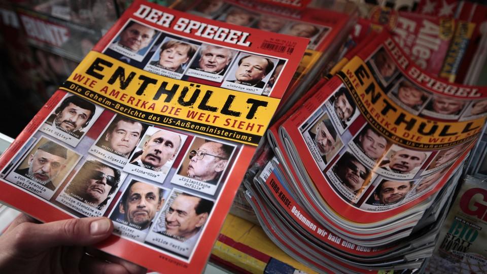 Copies of 'Der Spiegel'