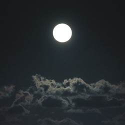 A full moon over the ocaen