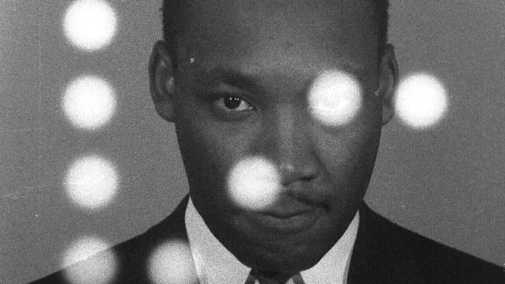 Martin Luther King Jr. in black-and-white