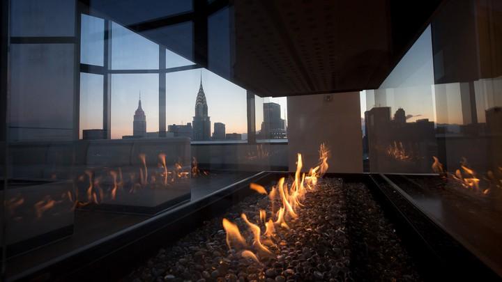 View from a duplex penthouse in Manhattan