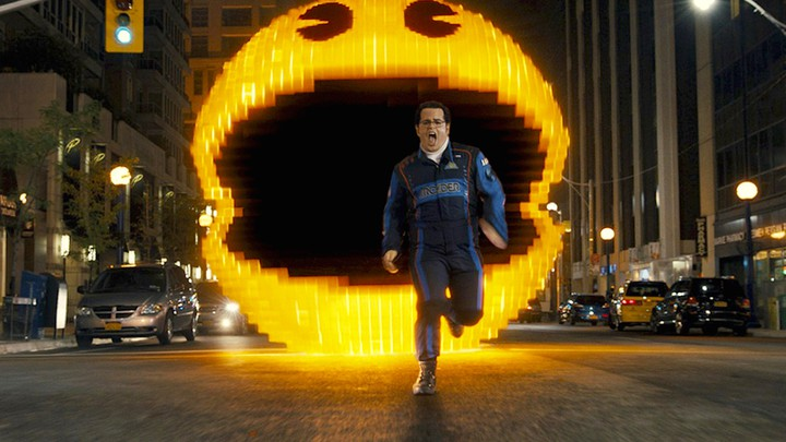 Movie Review Pixels Starring Adam Sandler Kevin James Michelle Monaghan Josh Gad And