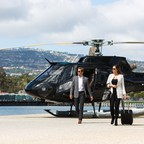 a photo of a Bay Area Voom helicopter