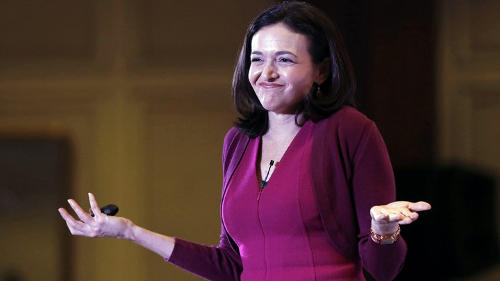Sheryl Sandberg shrugs.