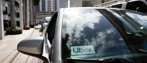 photo: an Uber vehicle in Miami