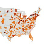 A map of the money service-class workers have left over after paying for housing