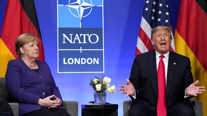 Donald Trump at a 2019 NATO summit in London