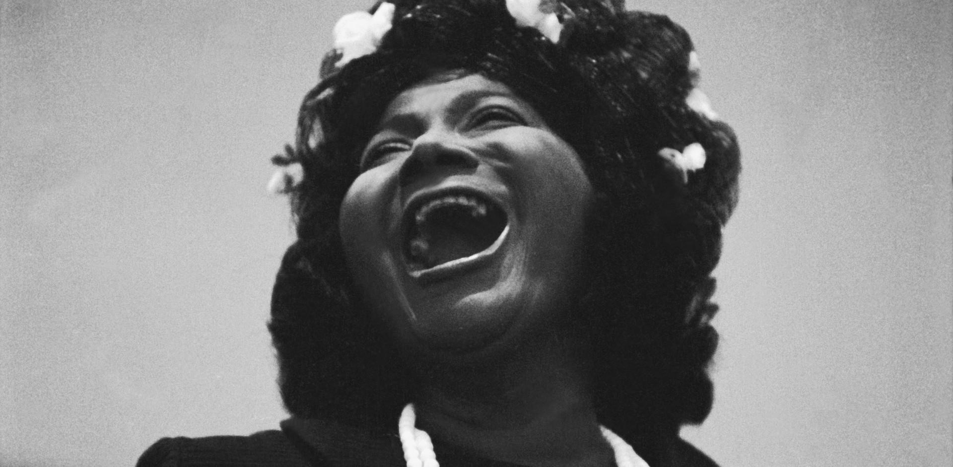 The gospel singer Mahalia Jackson sang during the memorial service for Martin Luther King Jr. in 1968.