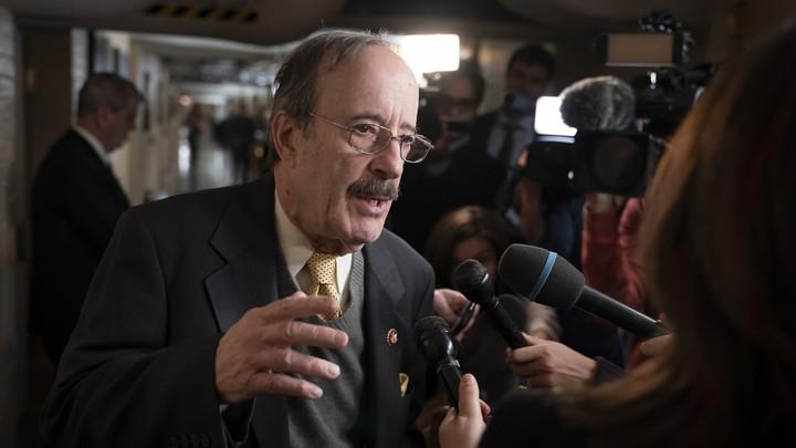 House Democrat Eliot Engel talking to reporters