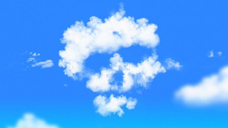 Illustration of clouds forming a skull shape