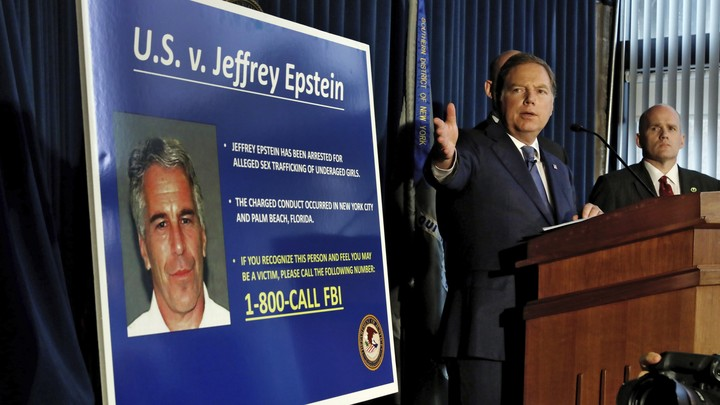 The U.S. attorney for the Southern District of New York speaks during a news conference on Jeffrey Epstein.