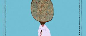 "an illustration depicting the 1527 ""Carta Marina"" map"