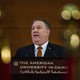 Mike Pompeo addresses students at the American University in Cairo.