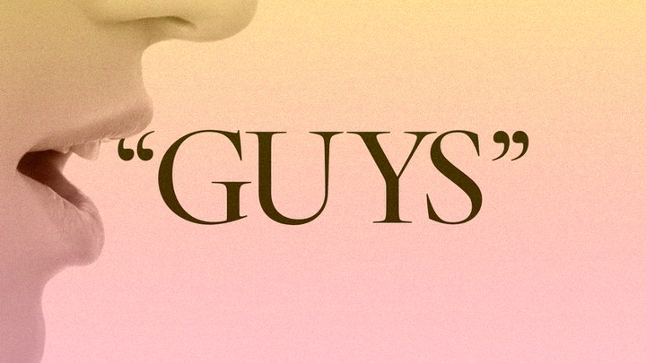 "An image of someone saying the word ""guys"""