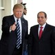 U.S. President Donald Trump welcomes Egyptian President Abdel Fattah al-Sisi to the White House on April 3, 2017.