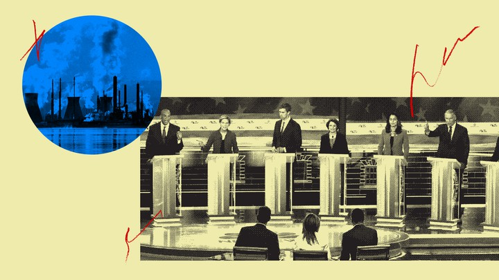 Democratic candidates at the June 26 debate