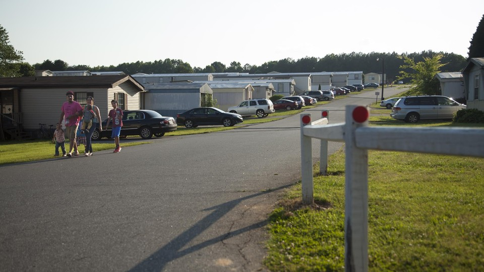 The Paradise Valley Mobile Home Community in Conover, North Caroline, has gone from mostly white, non-Hispanic, to mostly Hispanic.