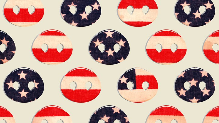Pig snouts colored like the American flag