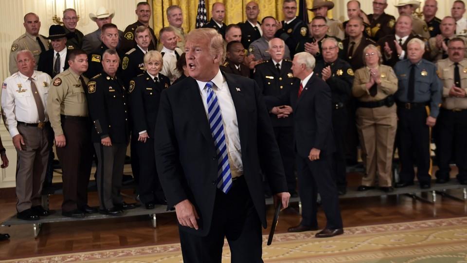 Donald Trump with sheriffs